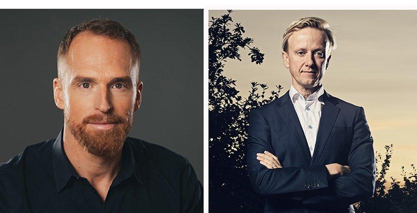 Andreas Andersen, vd på Liseberg, och Christer Fogelmarck, vd på Parks and Resorts. Foto: Anna-Lena Lundqvist/Bingo Rimér