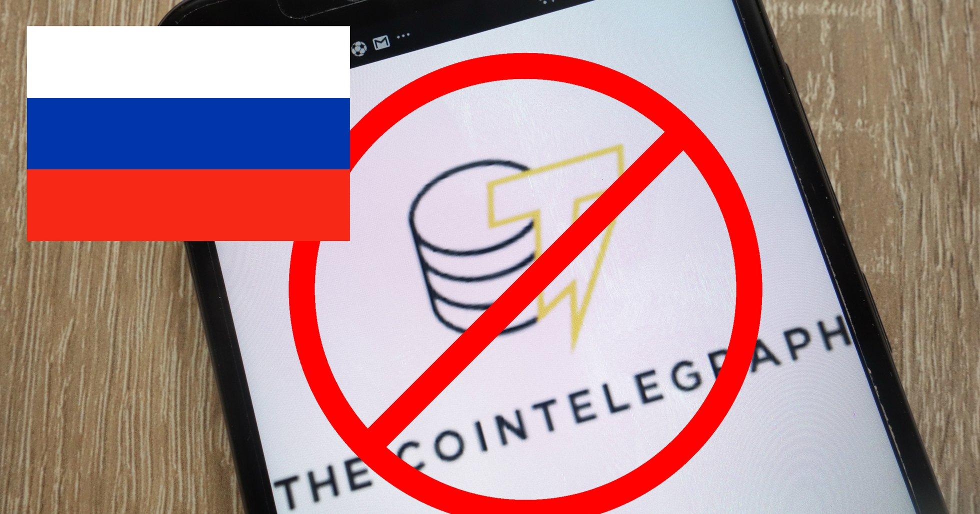 Kryptonyhetssajten Cointelegraph blockerad i Ryssland.