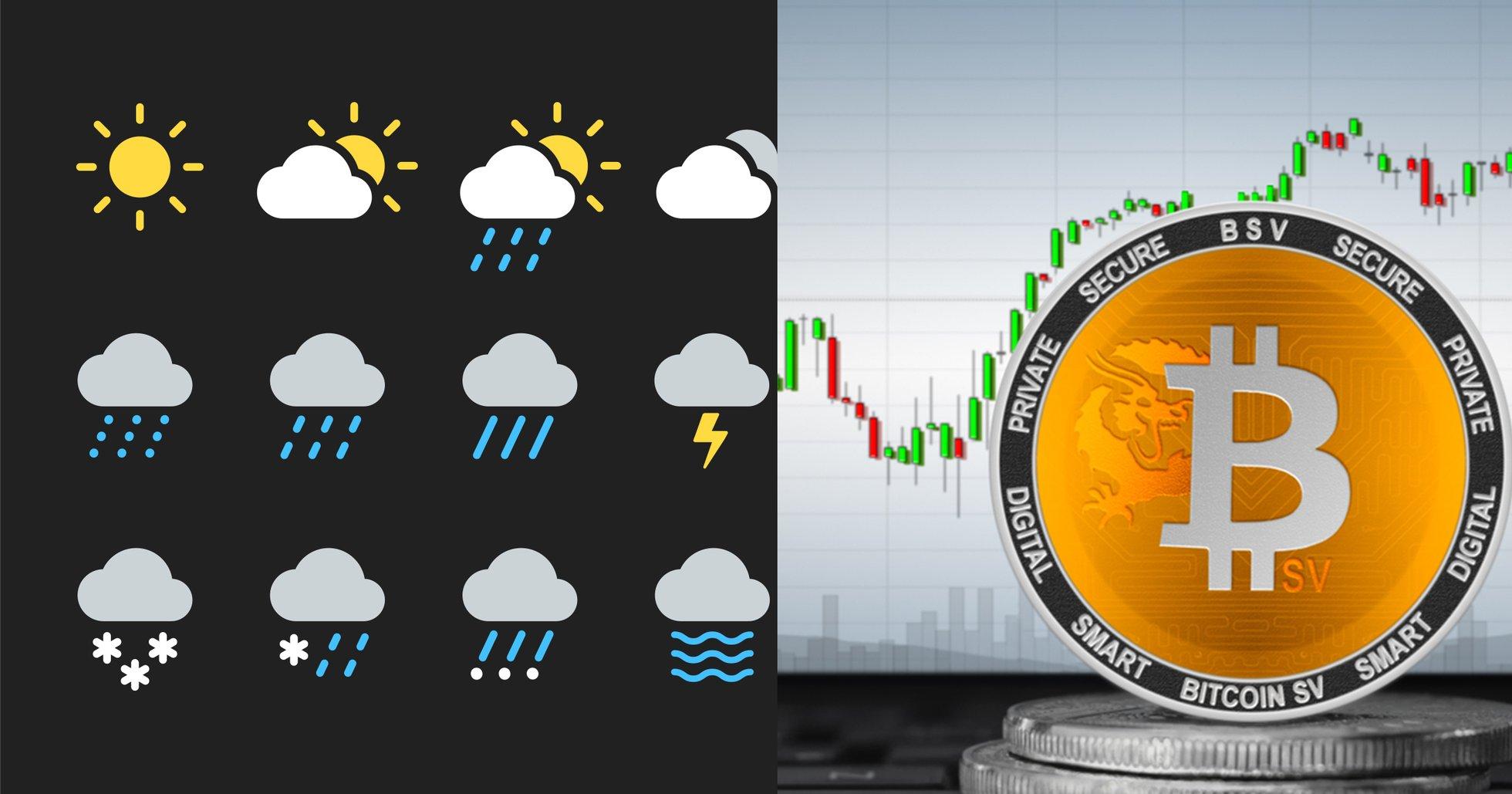 98 procent av alla bitcoin sv-transaktioner gjordes i väderapp