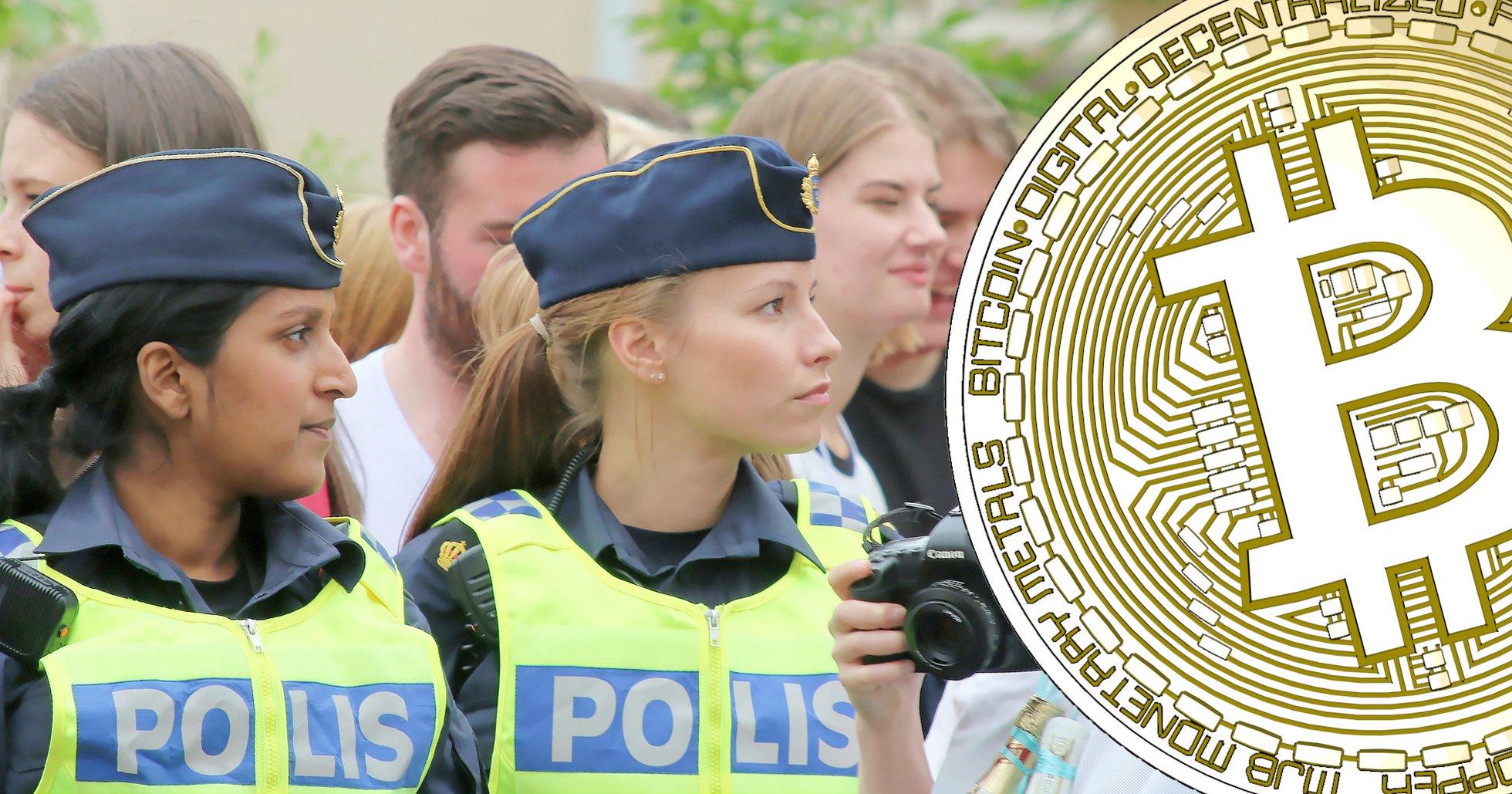 Polisen kan inte konstatera några grövre brott med hjälp av kryptovalutor.