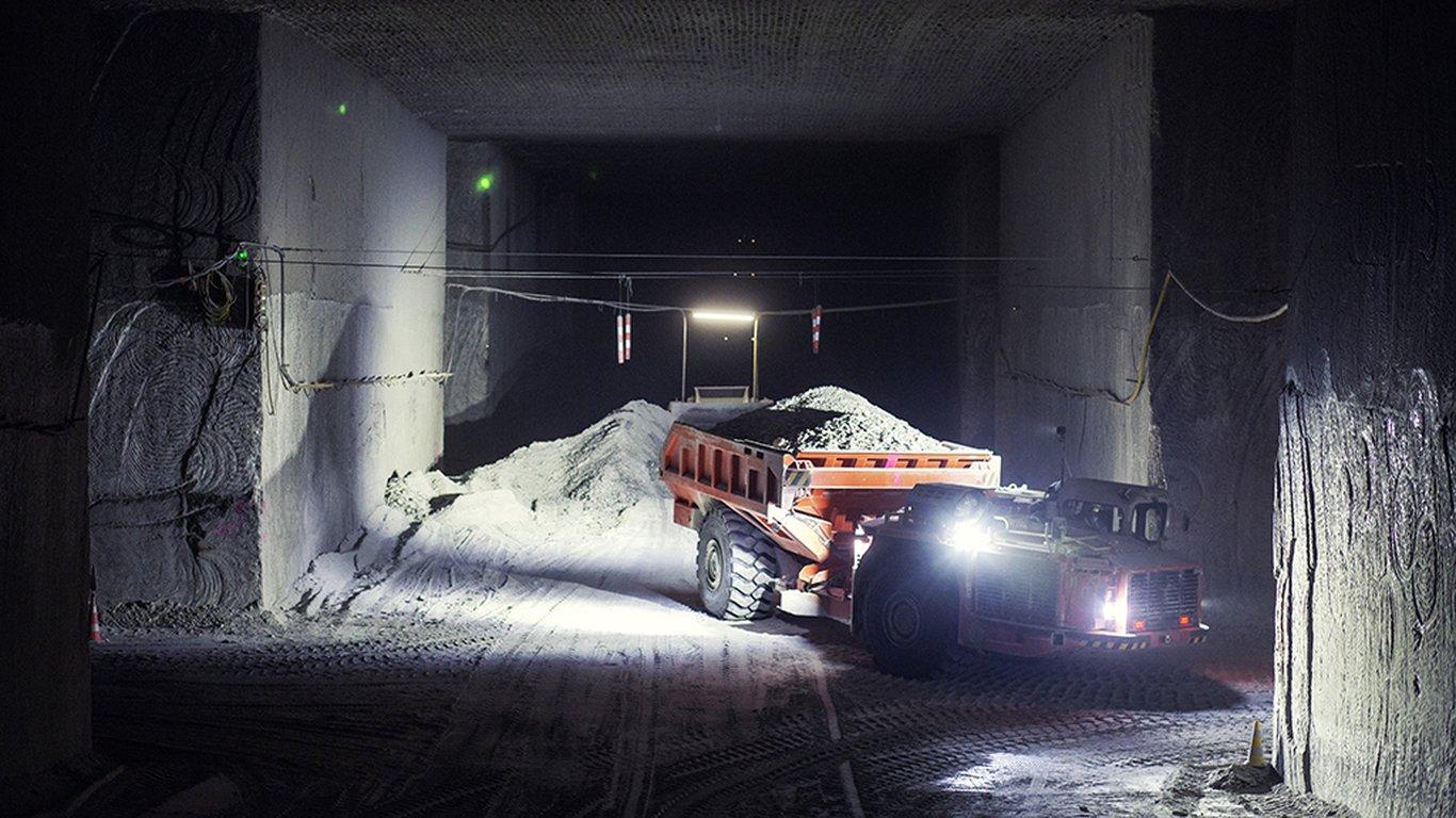 <p>Un camión Sandvik TH540.</p>