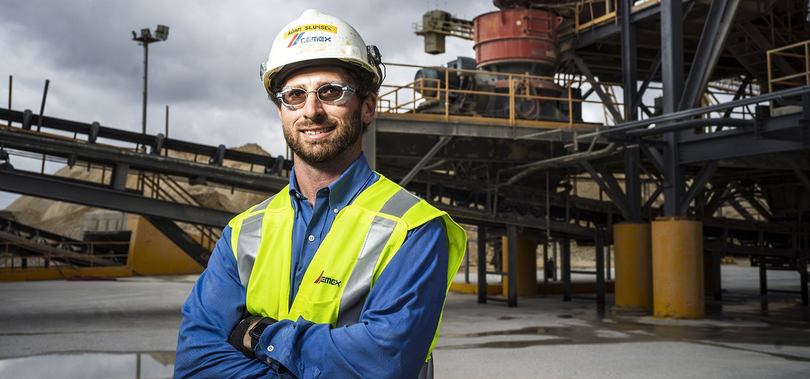<p>Aggregates plant manager Adam Slusser oversees the largest producing quarry in the US.</p>