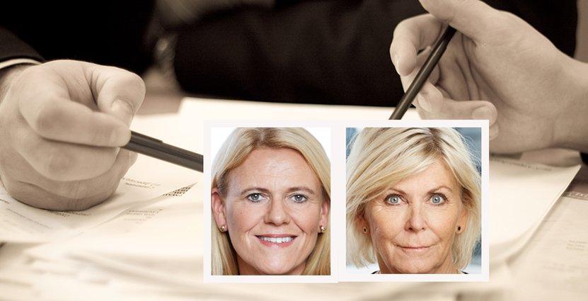 Visitas förhandlingschef Antje Dedering och vd Eva Östling.
