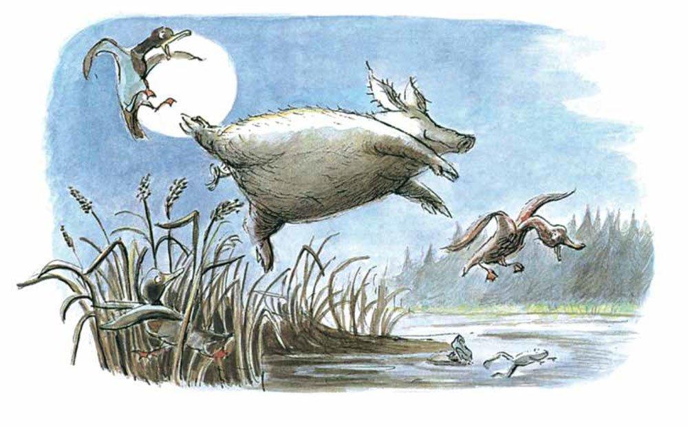 Illustration av Ulf Nilsson, ur Älskade lilla gris