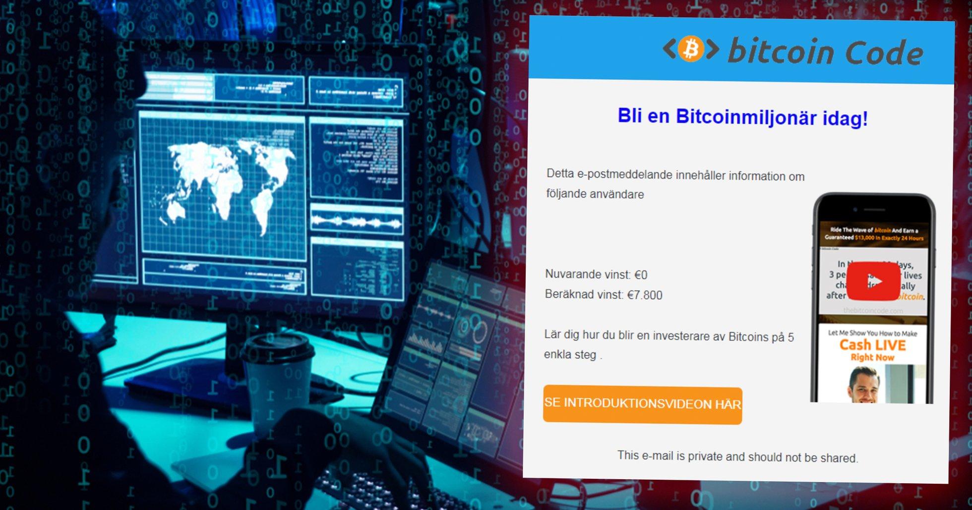 Bitcoinbedragarnas nya metod: Raggar kunder över email