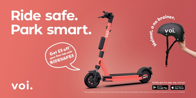 Ride Safe, Park Smart: Voi launches UK multi-channel brand campaign to encourage safe riding