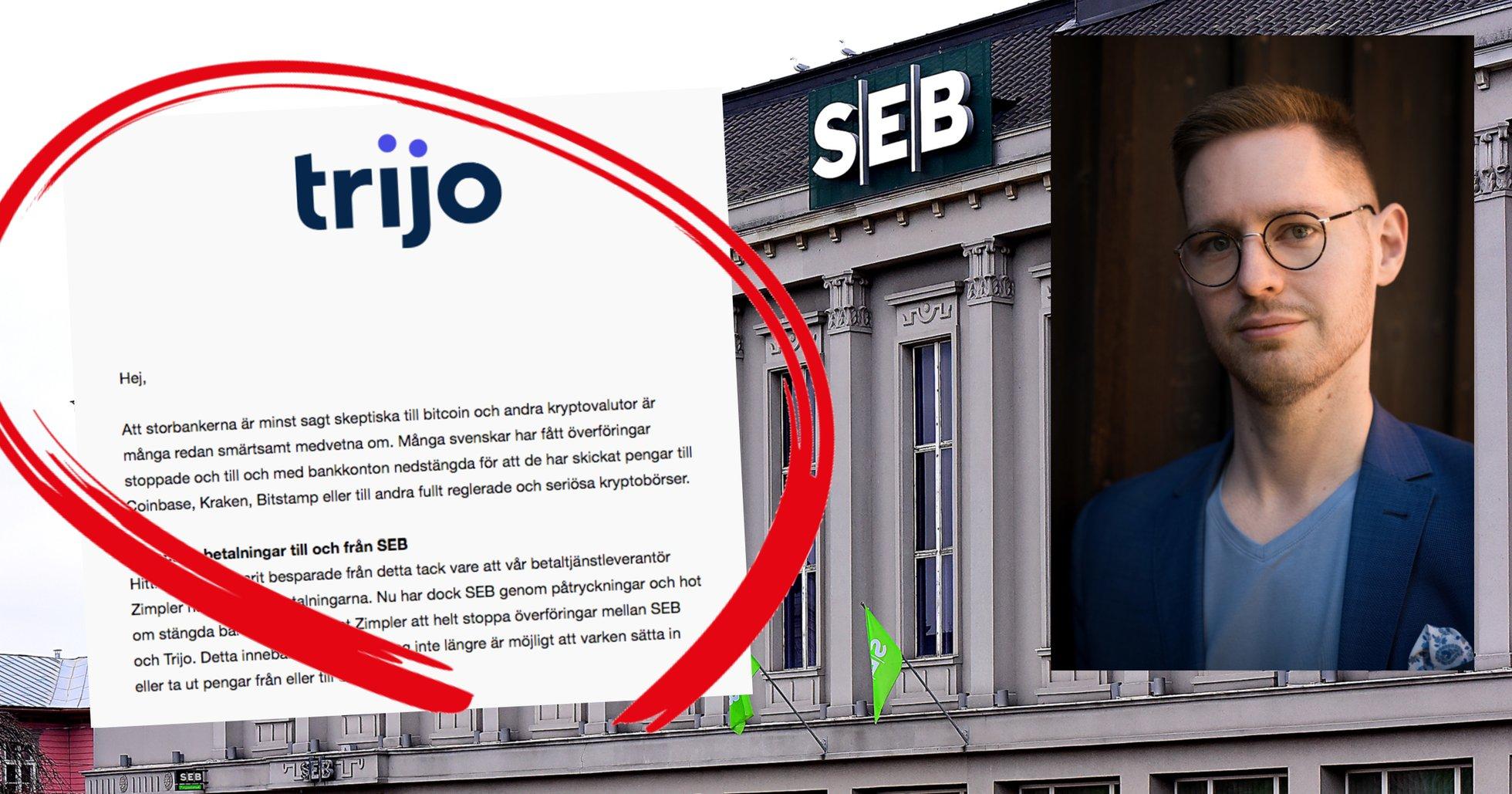 SEB stoppar överföringar till Trijo.