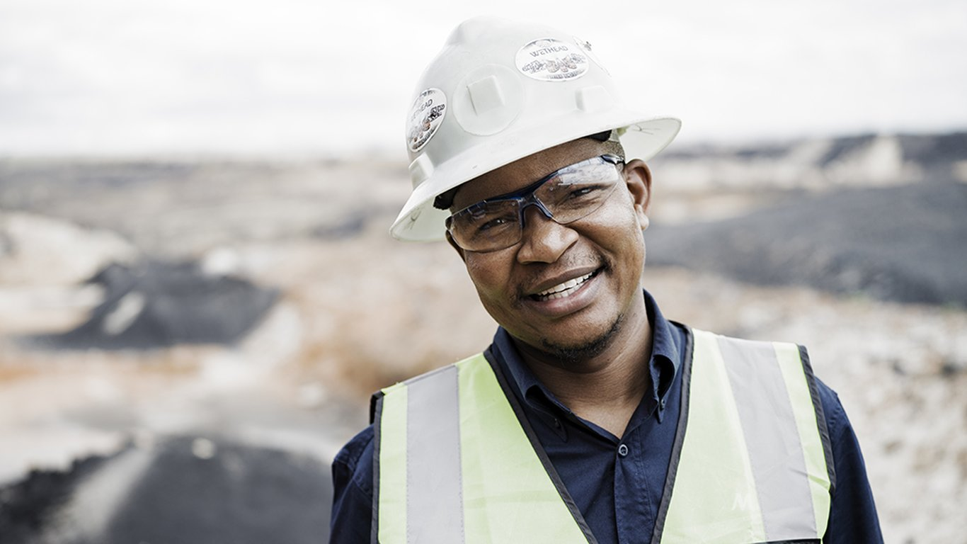 <p>Mafube mining manager Kennedy Botsheleng is committed to returning mined land to a fertile state.</p>