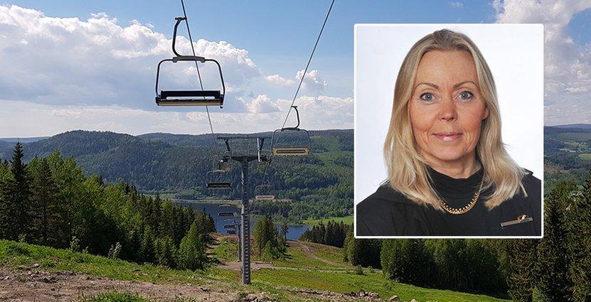 """""""Linbanan är en viktig del i att tillgängliggöra den här vackra platsen för fler"""", säger Susanne Königson. Foto: Anders Malm/ Susanne Königson."""