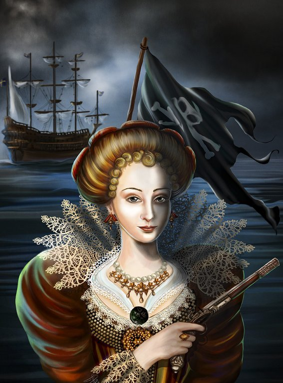 Cecilia Vasa. Illustration av Josephine Lawrence