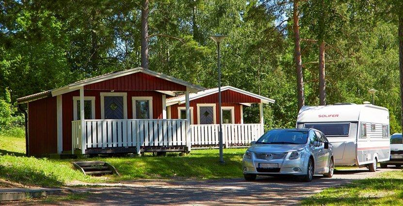 Bra beläggning på landets campingplatser trots sval start på året. Foto: Anna Hult