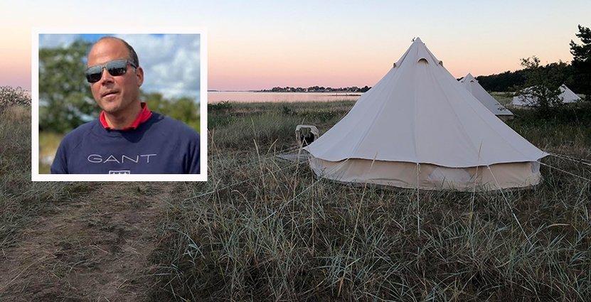 Enligt Johan Bergner, som driver Ljugarns Semesterby & Camping på Gotland är bokningstrycket högre än någonsin.  FOTO: Privat