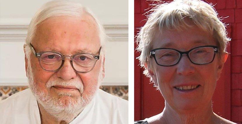 Kocklegenden Leif Mannerström och Britta Jonsson-Lindvall, grundare av Treehotel.