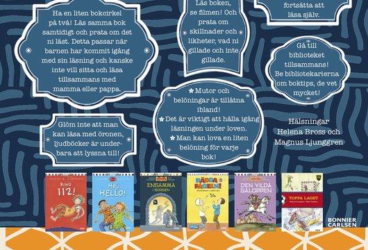 Tio enkla tips på hur man kan stimulera barn att läsa