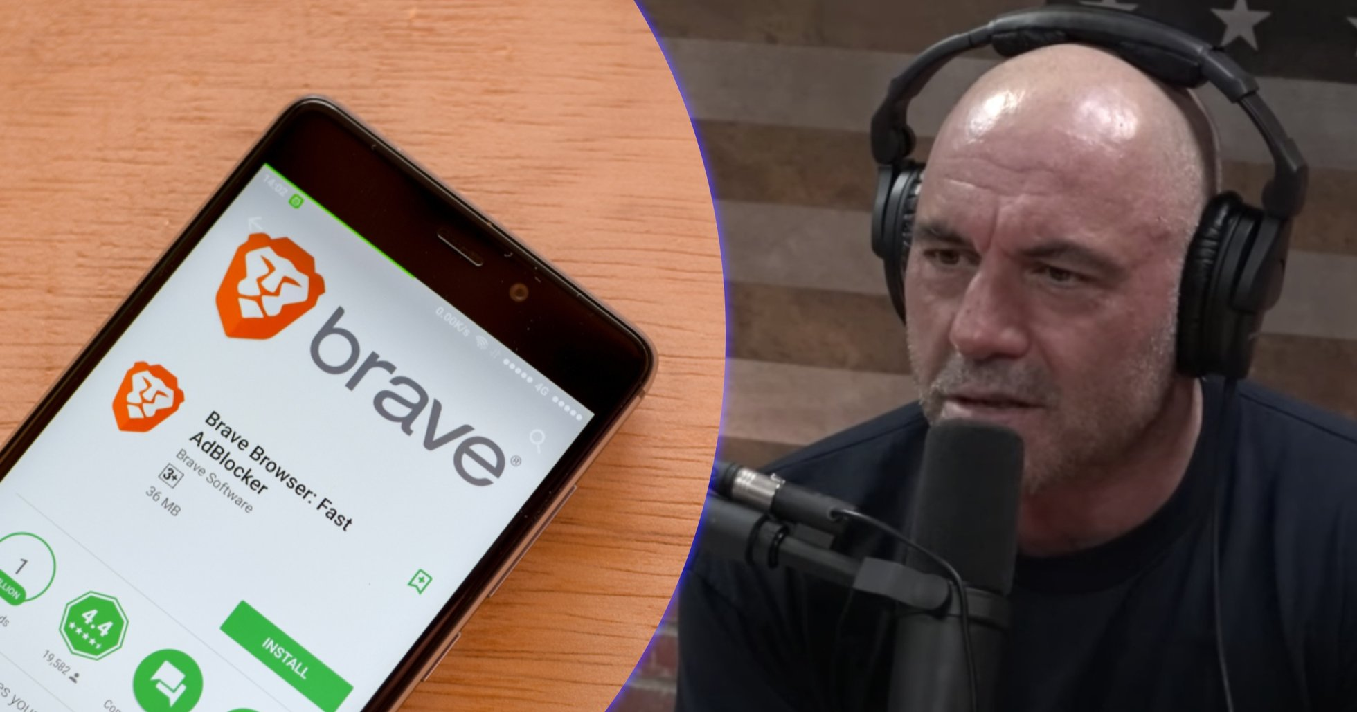 Podcaststjärnan Joe Rogan använder kryptowebbläsaren Brave
