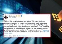 Binance gör sin största uppdatering hittills – blir upp till 10 gånger snabbare