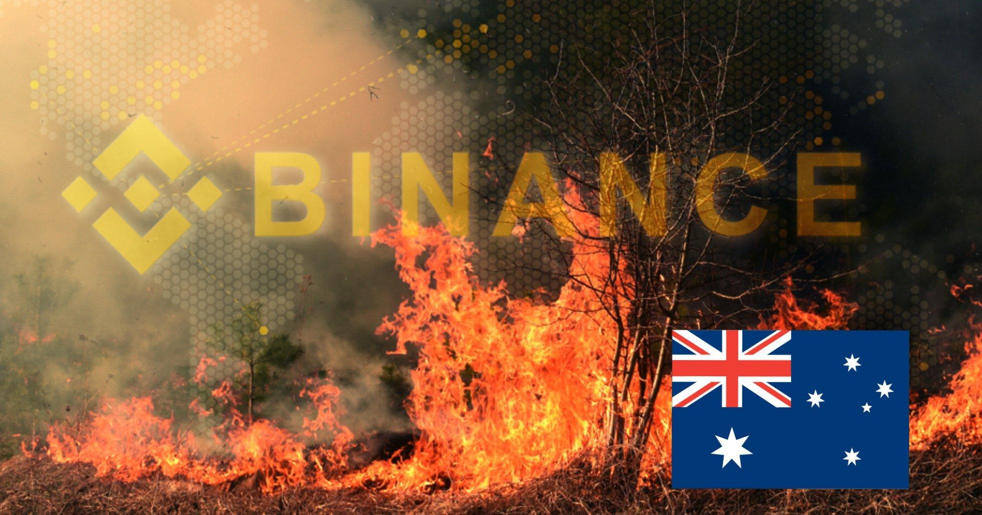 Kryptobörsen skänker en miljon dollar till insatser mot bränderna i Australien