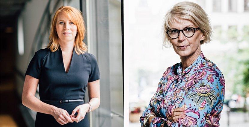 Annie Lööf (c) och Elisabeth Svantesson (m) Foto: Pressbild/Axel Adolfsson