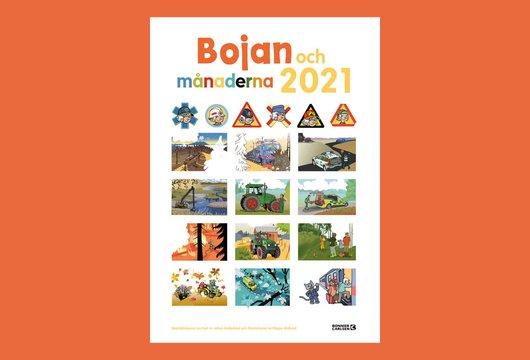 Bojan och månaderna 2021 – kalender