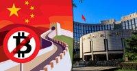Kinas centralbank uppmanar till hårdare tag mot kryptovalutor