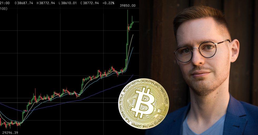 Bitcoinpriset ökar med över 12 procent – på bara en timme