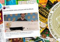 Kille vinner 4,8 miljoner på lotto – investerar hälften i bitcoin