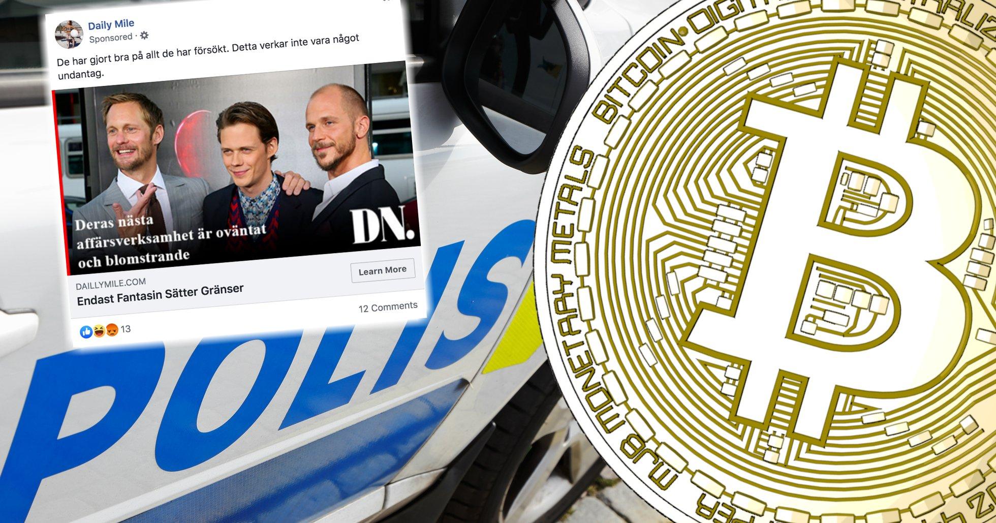 Hundratals anmälningar om bitcoinbedrägerier varje månad – polisen har inte löst ett enda fall.