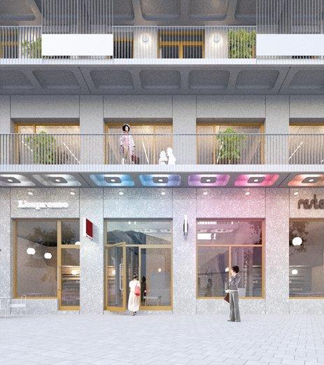 Visionsbild från DinellJohansson på Atlas fasad
