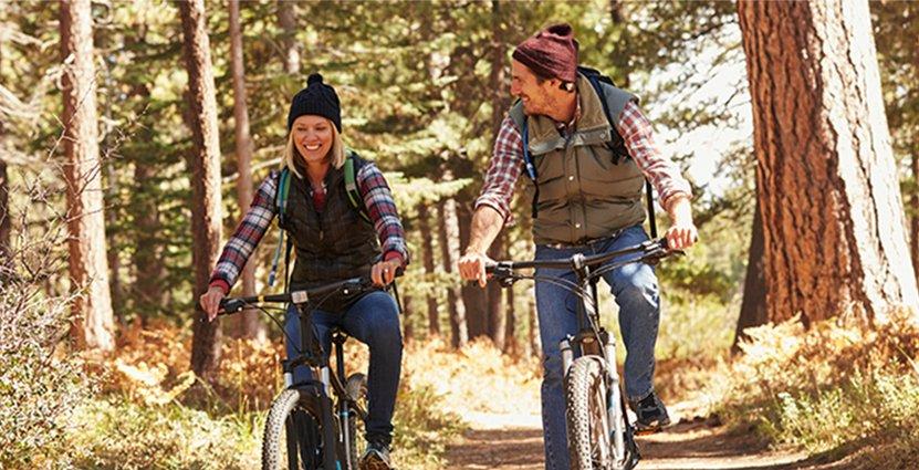Den största tillväxten inom cykelturism sker inom<br />  mountainbike, där Sverige har ett unikt utbud. Foto: Colourbox
