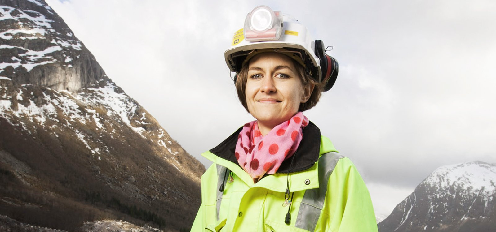 <p>PNC Norge site engineer Ines Haspiel oversees drilling and blasting for a tunnel project in northern Norway.</p>
