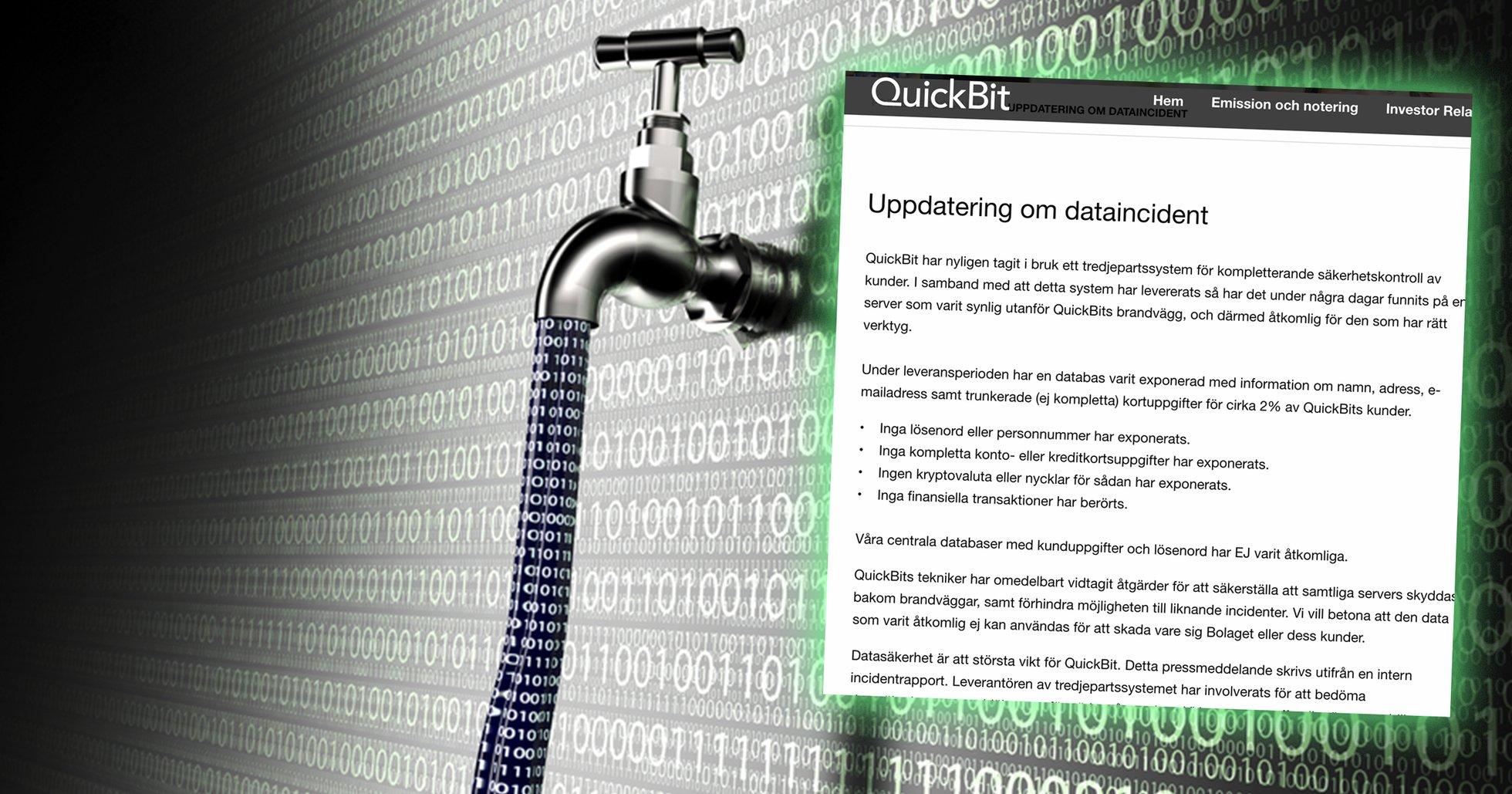 Svenska kryptobolagets blunder: Uppemot 300 000 användares uppgifter förvarades helt öppet