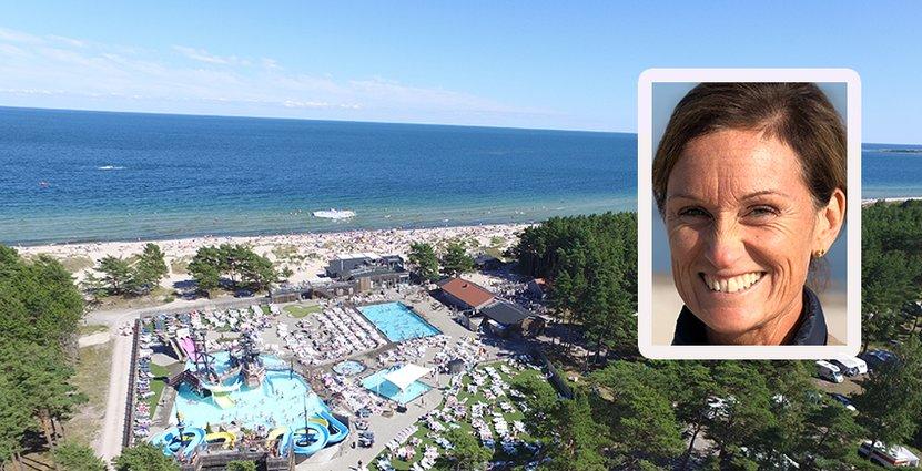 Anna Barkevall, vd Böda Sand Beach resort, vill få sin personal att växa som ledare och ge dem en möjlighet att göra karriär inom näringen. Foto: Böda Sand