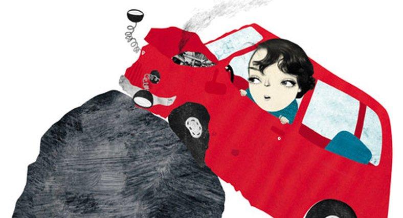 Jobbtabben: Kraschade nya chefens bil