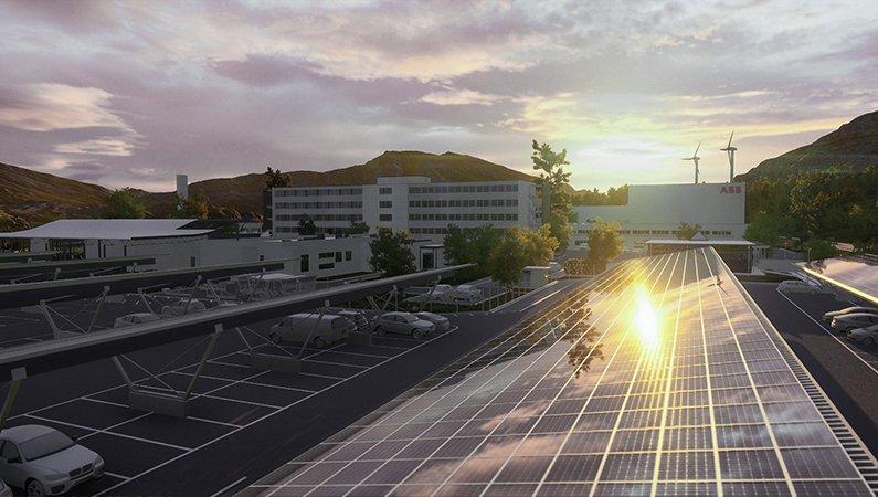 ABB:s egna tillverkningsfabrik i Lüdenscheid, Tyskland, kan drivas helt och hållet av energi av egna solceller. Energisystemet Optimax ser till att anläggningen har maximal effektivitet och minimal miljöpåverkan.