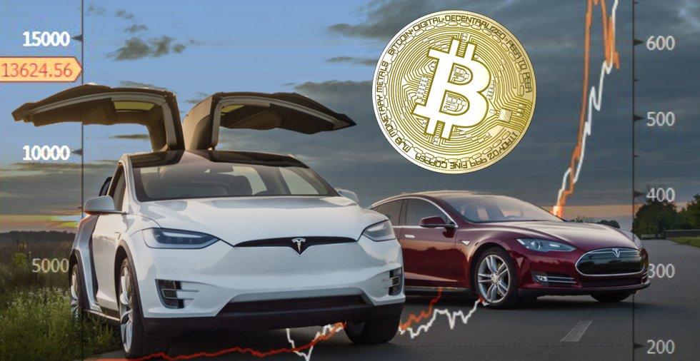 Teslas aktie följer kurva som liknar bitcoinpriset 2017