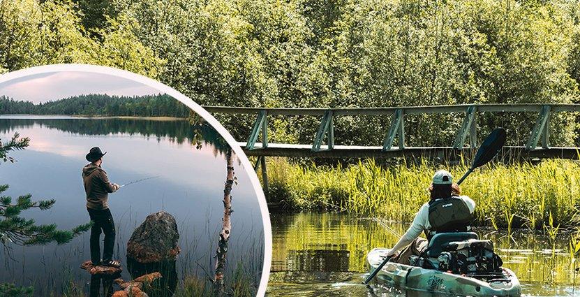 Med hjälp av drönare och foto marknadsför man destinationer i Norrland. Foto: Peppit