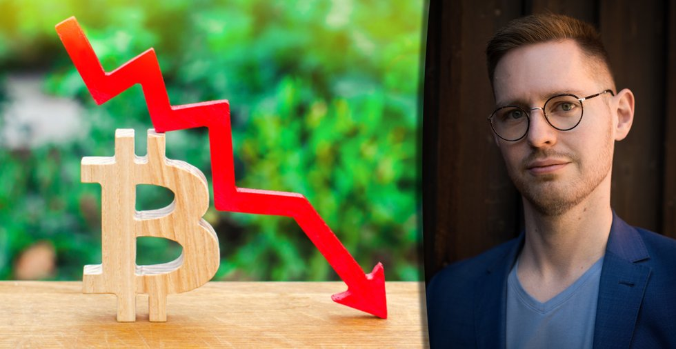 Bitcoinpriset närmade sig rekord – då sjönk det med tusentals dollar