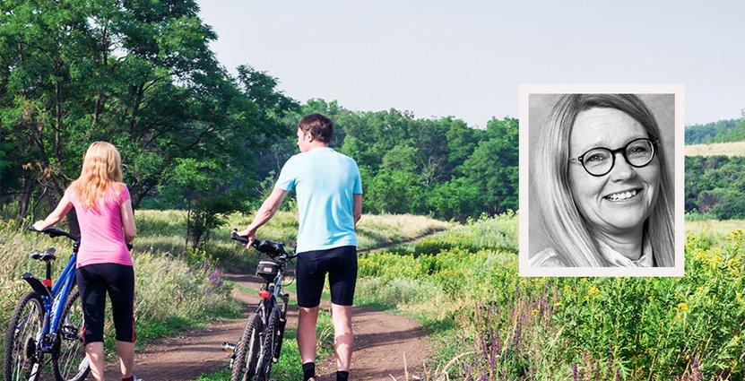 Satsningen på cykling kommer att göra stor skillnad för<br />  besöksnäringen, säger Mia Landin, vd på Visit Värmland. Foto: Colourbox