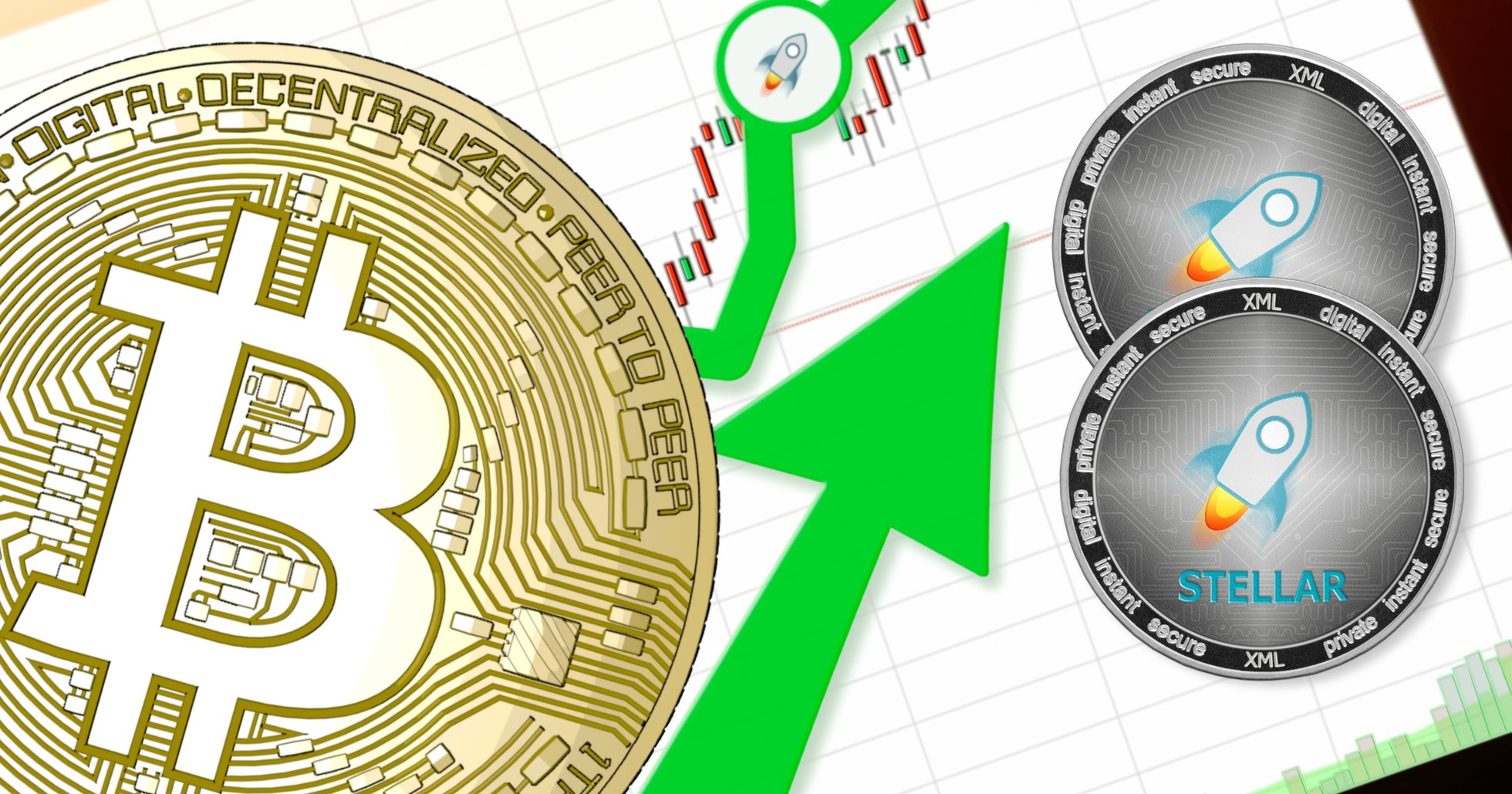 Daily crypto: Markets rise slightly and stellar increases the most of the biggest currencies.