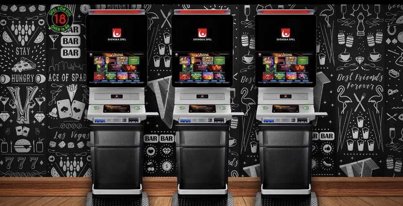 På de nya Vegas-automaterna loggar man in enkelt med bank-id och lite längre fram i år öppnar Svenska Spel för andra betallösningar, exempelvis Swish. Bild: Svenska Spel
