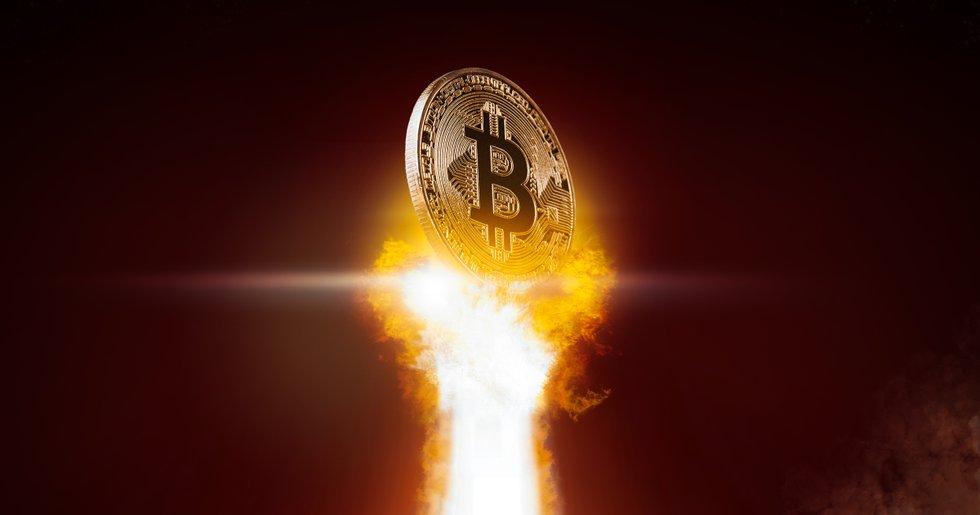 Bitcoinpriset på nytt