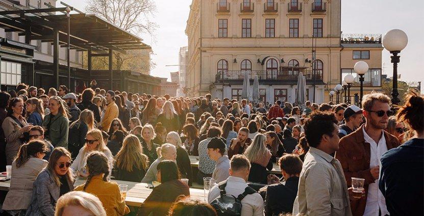En utmaning med rökförbudet blir att förklara för utländska<br />  turister, menar Södra Teaterns vd Samuel Laulajainen. Foto: Södra Teatern