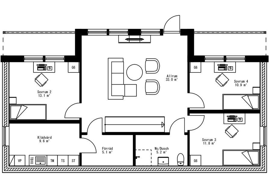 Planritning för Villa Svartvik