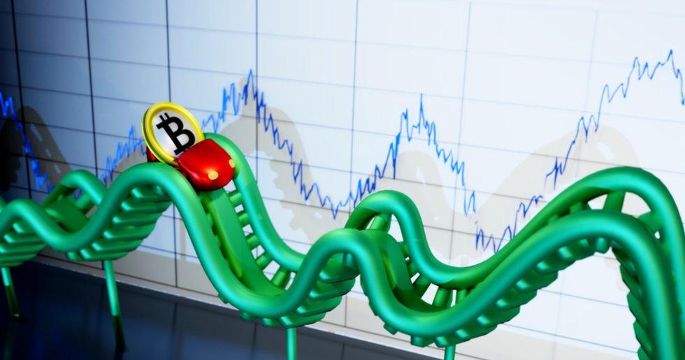 Bitcoinprisets volatila veckoslut: Sjönk med som mest över 15 procent