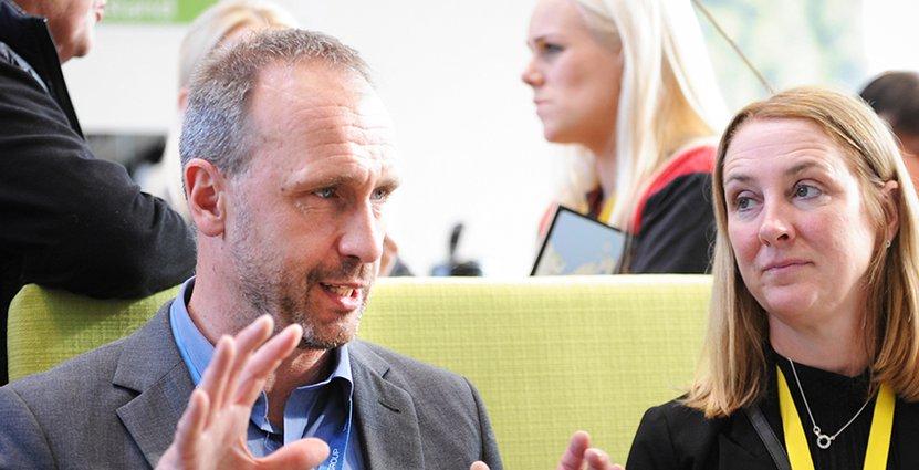 Andreas Norum och Cajsa Jansson från Visit Värmland betonar<br />  vikten av samarbeten mellan Sveriges regioner. Foto: Thomas Kolbein Bjørk Olsen