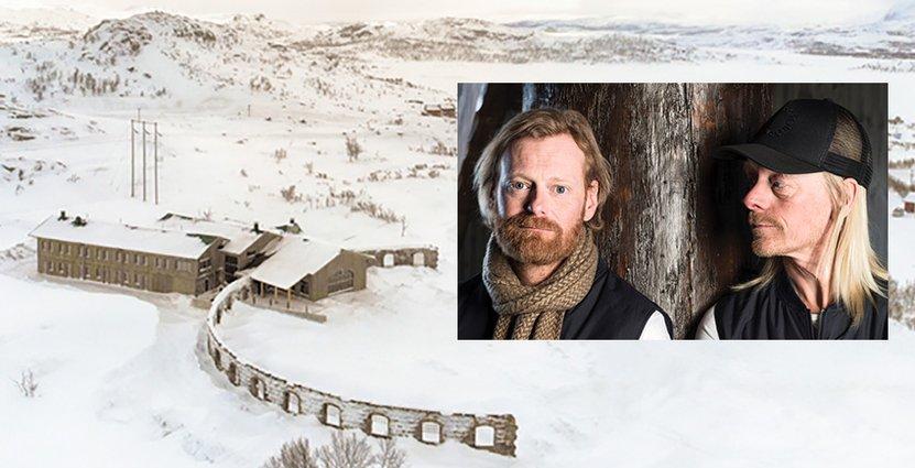 Allt började med en omöjlig dröm hos tre vänner, Clas Darvik, Jossi Lindblom (tv) och Patrik Strömsten (th). Foto: Niehku Mountain Villa