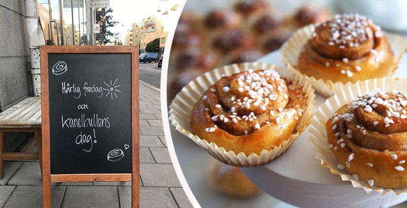 Gammelstads Konditori & Café säljer 1500 kanelbullar idag.  Foto: Colourbox