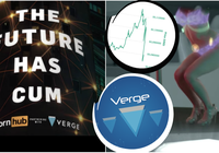 Cryptocurrency Verge partner up with porn site – price dips after the announcement
