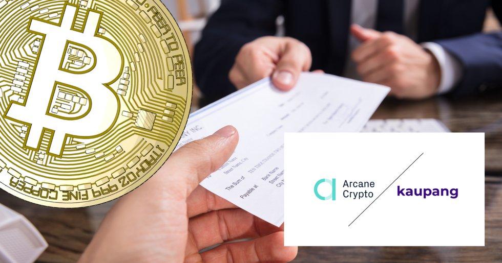 Arcane Crypto erbjuder anställda lön i bitcoin – vill hjälpa även andra företag.