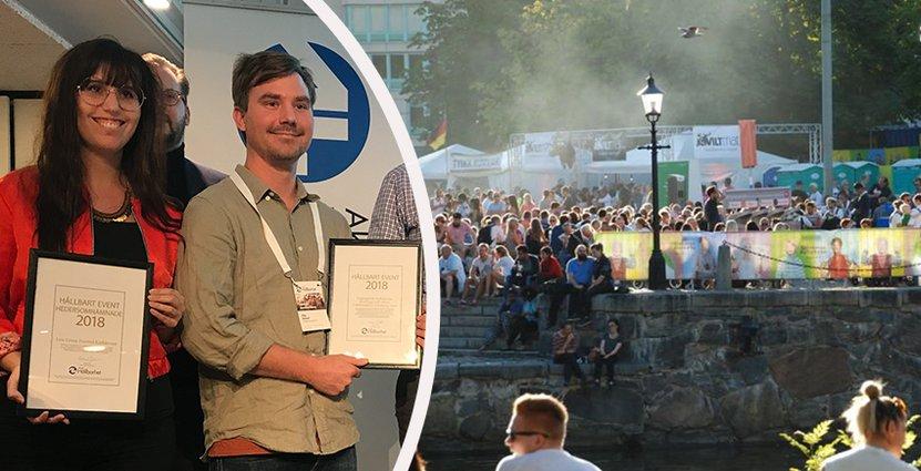 Prisfest under Hållbar Besöksnäring; Live Green Festival och Göteborgs Kulturkalas var två av pristagarna. Foto: Besöksliv